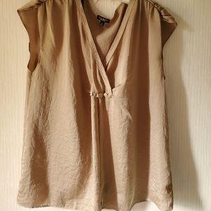 Cap Sleeve Satin blouse - Talbot's